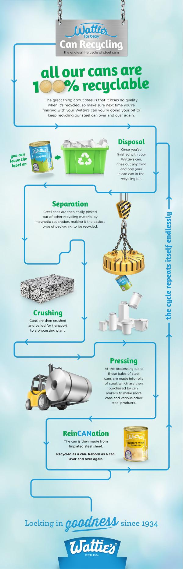 Wattie's Can Recycling Process