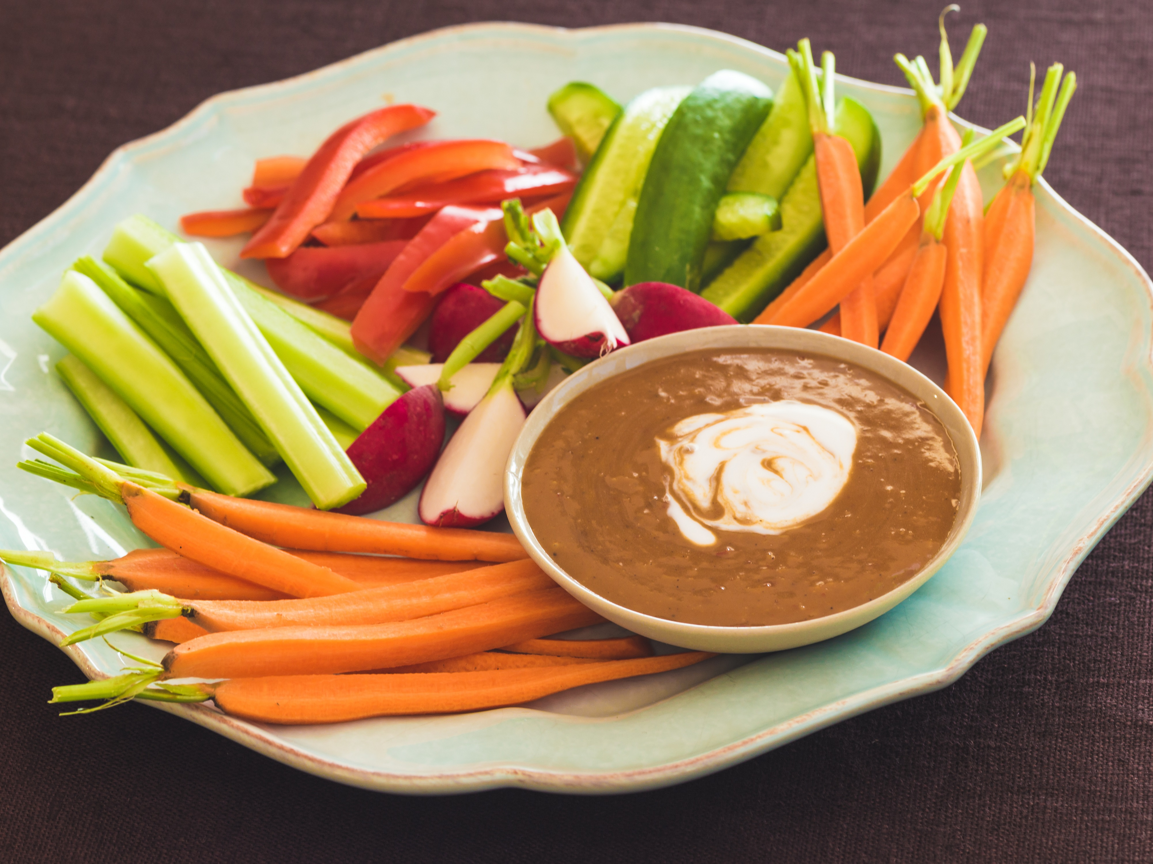 Satay Dip with Crudites