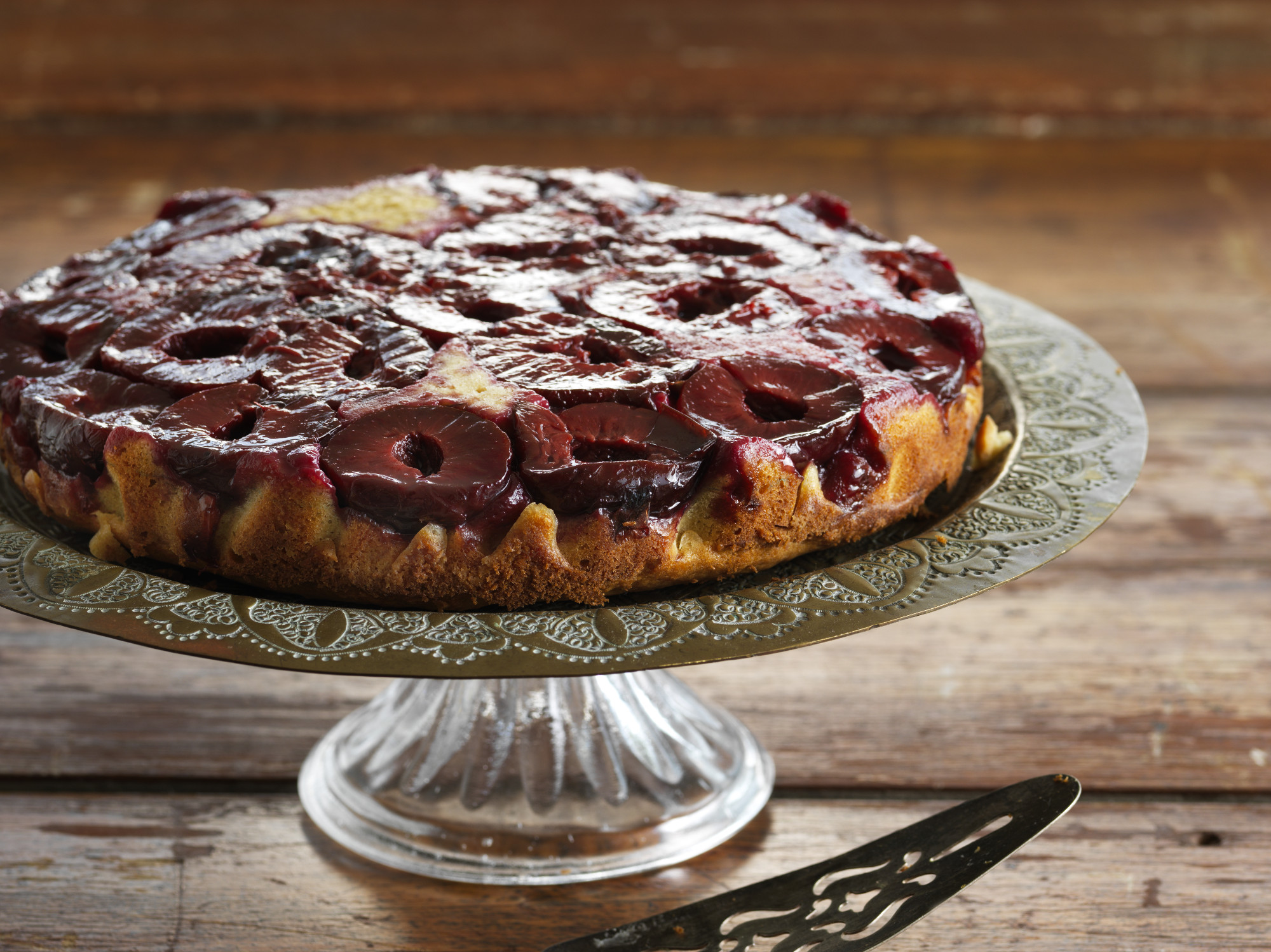 Plum and Cinnamon Upside Down Cake