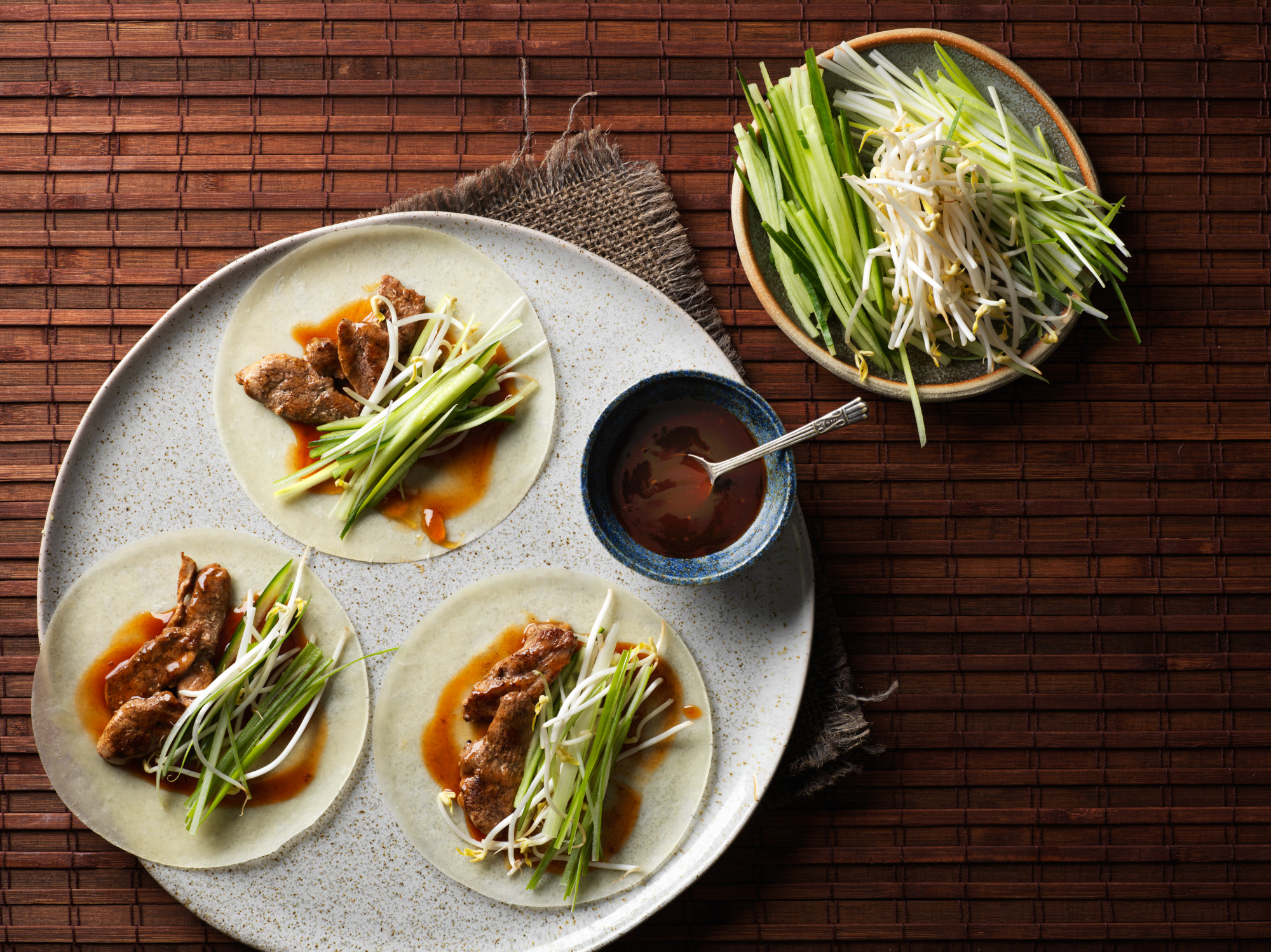 Hoisin Duck Wraps