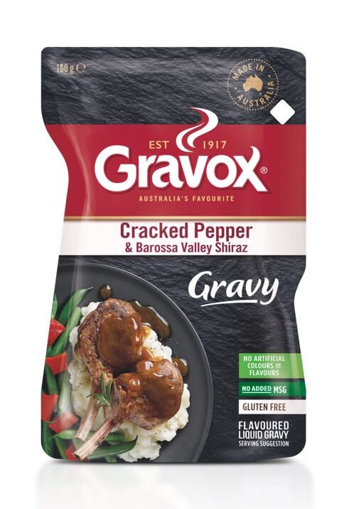 Cracked Pepper & Barossa Valley Shiraz Gravy 160g image