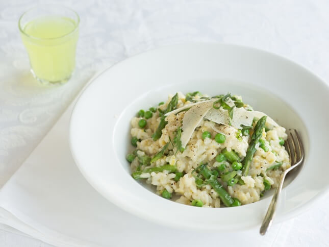 Asparagus and Cheese Risotto