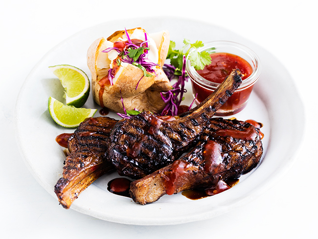 Chargrilled Spicy Soy Lamb Cutlets