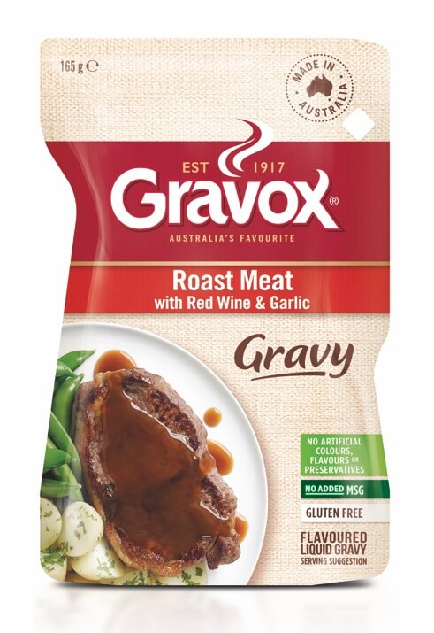 Roast Meat with Red Wine & Garlic Gravy 165g
