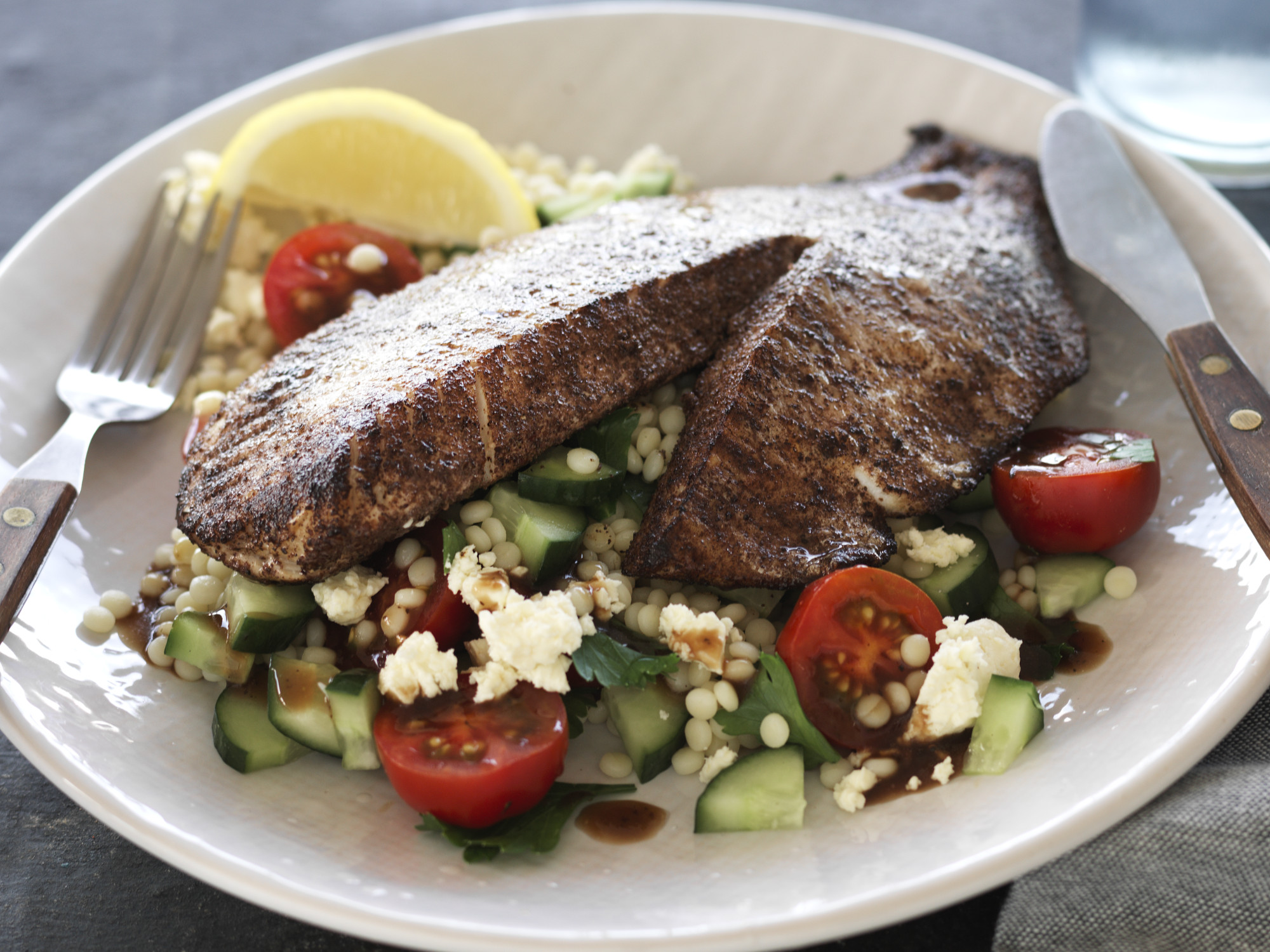 Sumac Fish Fillets and Couscous